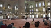 ahmet : ISTANBUL, TURKEY, JUNE 3 2017: Tourists and visitors in Sultanahmet Mosque Stock Footage