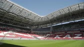 soccer background : Russia, Kazan - May 18, 2018: Kazan Arena stadium Fifa world cup Stock Footage