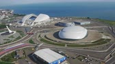 olympic park : Russia, Sochi - May 20, 2018: Olympic objects of winter games 2014 Stock Footage