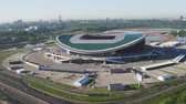 Russia, Kazan - May 18, 2018: Aerial view of Kazan Arena Stadium