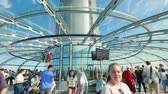 movable : Inside a capsule of the British Airways i360 observation tower in Brighton