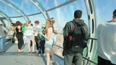 movable : Cityscape from capsule of the British Airways i360 observation tower in Brighton Stock Footage