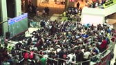 wsparcie : fans watch the live broadcast of the Russia-Uruguay match in the mall Gallery