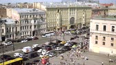 aerial view of pedestrian crossing of Ligovsky prospect, Moscow railway station