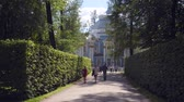 classicism : Walking to Pavilion Hermitage on artificial island in Alexandrovsky Park