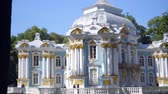 imperial : Walking to Pavilion Hermitage on artificial island in Alexandrovsky Park