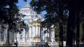 petersburg : Walking to Pavilion Hermitage on artificial island in Alexandrovsky Park