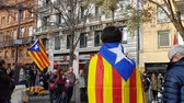 katalánsko : TOULOUSE, FRANCE - DECEMBER 9,2017: Mobilization for the rights of the Catalan people