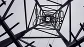 pylon : The tower of the high-voltage electric line is spinning.