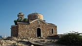 corner : Christian church on the hill. front view. Protaras. Cyprus. 4K UHD Stock Footage