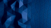 cristalino : abstract triangular crystalline background animation. 3d rendering 4K Vídeos