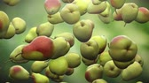high quality : Super slow motion: falling pear against green background. High quality 4K seamless loopable CG animation. 3D rendering