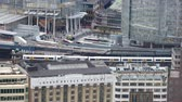 business : LONDON, UK - NOVEMBER 4, 2015: View of the London bridge train station. View from the 35 floor