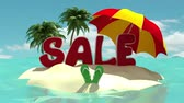 cheaper : bright summer sale Stock Footage