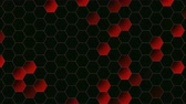 hipnoza : Motion red hexagon abstract background. Elegant and luxury dynamic style for business template Wideo