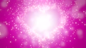 母の日 : Closeup pink hearts of love, wedding background. Elegant and luxury pastel style, animation footage