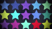 Motion colorful stars pattern, abstract background. Elegant and luxury dynamic geometric style template Vidéos Libres De Droits