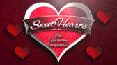 cuore sagoma : Animated closeup Sweet Hearts text and motion romantic heart on Valentine day shiny background. Luxury and elegant dynamic style template for holiday