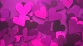 san valentin corazones : Animation closeup motion romantic hearts on Valentine day shiny background. Luxury and elegant dynamic style template for holiday