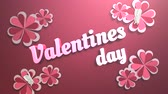 san valentin corazones : Animated closeup Valentine Day text and motion romantic heart on Valentine day shiny background. Luxury and elegant dynamic style template for holiday Archivo de Video