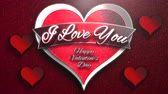 san valentin corazones : Animated closeup I Love you text and motion romantic heart on Valentine day shiny background. Luxury and elegant dynamic style template for holiday