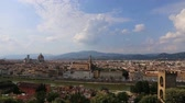 Florence, panorama from Piazzale Michelangelo. Video of Florence from above.