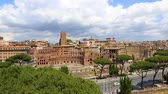 imperatore romano : View of via the forums holes and the colosseum from the victorian. Italy. Rome.