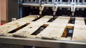 planche de bois : manufacturing industry.woodworking.fragment modern working special machine that produces wooden pallets.