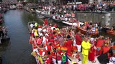 Tourists and locals enjoying the Canalparade