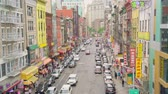 oeste : Henry street part of China town seen from the Manhattan bridge in Downtown New York city