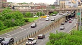 horas : Traffic on the Brooklyn Queens way in Brooklyn New York Stock Footage