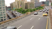 havai : Traffic on the Brooklyn Queens way in Brooklyn New York Stok Video