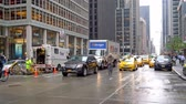 Traffic on West 54th and 6th Avenue in Mahatten, New York City