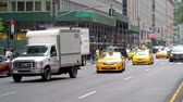 Traffic on West 49th and Park Avenue in Mahatten, New York City