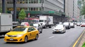 ny : Traffic on West 49th and Park Avenue in Mahatten, New York City
