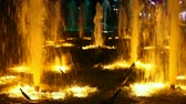 Казахстан : Light colour fountain. Стоковые видеозаписи