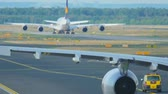 srilankan : Airbus 330 towing to service Stock Footage