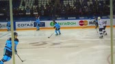 moskau : Hockeyspieler in der Warm-up Stock Footage