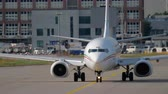 maroc : Airplane taxiing to the start