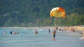 paraglide : Parasailing on Phuket Stock Footage