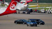 official visit : Governmental cortege in Dusseldorf airport