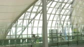 asian architecture : Interior terminal of Bangkok airport Stock Footage