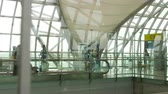 kontrola : Interior terminal of Bangkok airport Wideo