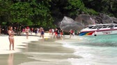 speedboat : Tourists at Similan Islands