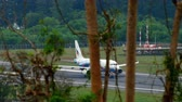 Таиланд : Airbus 320 at Phuket airport Стоковые видеозаписи