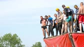 nagroda : Athletes jumps in water from 4 meters height