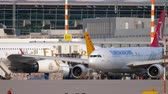 lowcost : Airplane taxiing before departure