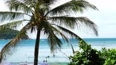 nai harn : Nai Harn beach, south of Phuket Island Stock Footage