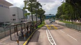 asian architecture : Singapore road from bus