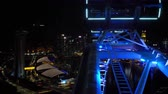 reuzerad : Cityscape view from Singapore Flyer Stockvideo